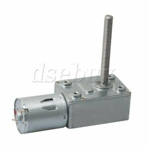 JGY370 12V 40//100Rpm Reversible High Torque Turbo Worm Geared DC Motor