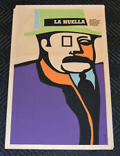 "1969 Original Cuban Movie Poster.Affiche""Fingerprint""Romanian Art film.La Huella"