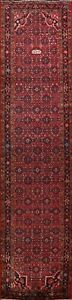 4x14-Vintage-Geometric-Traditional-Runner-Rug-Hand-knotted-Wool-Oriental-Carpet