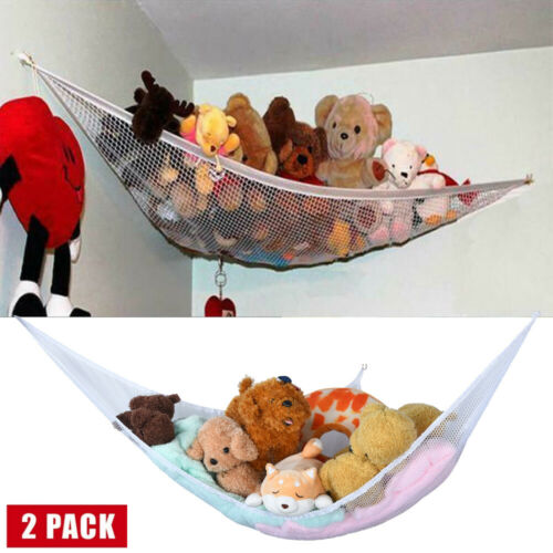 2 Pack Large Pet Storage Corner Stuffed Toys Net Hammock Organize Storage Store