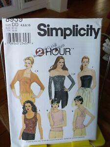 Oop-Simplicity-2-hr-8939-misses-tops-stretch-knit-gauntlets-shrug-sz-4-10-NEW