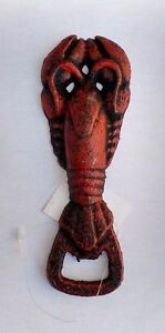 6-034-L-Rustic-Nautical-Theme-Cast-Iron-Lobster-Bottle-Opener-Beer-Soda-Opener-NWT