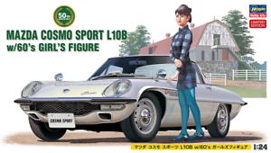 Hasegawa 1/24 Mazda Cosmo Sport L108 con años 60 chica figura 52168