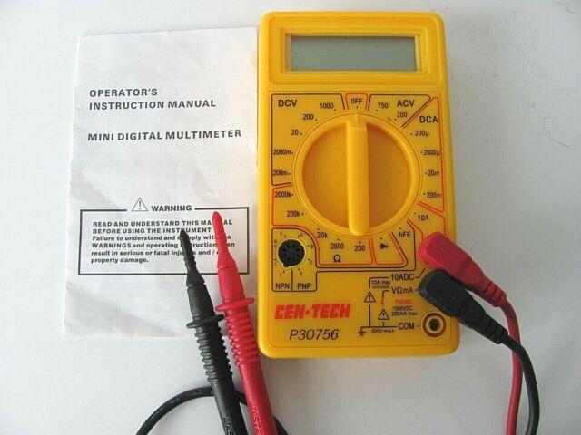 Cen-tech P30756 Mini Digital Multimeter for sale online | eBay