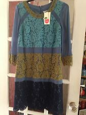 BNWT*BODEN LACE & CHIFFON SILK DRESS SIZE UK 12 REGULAR