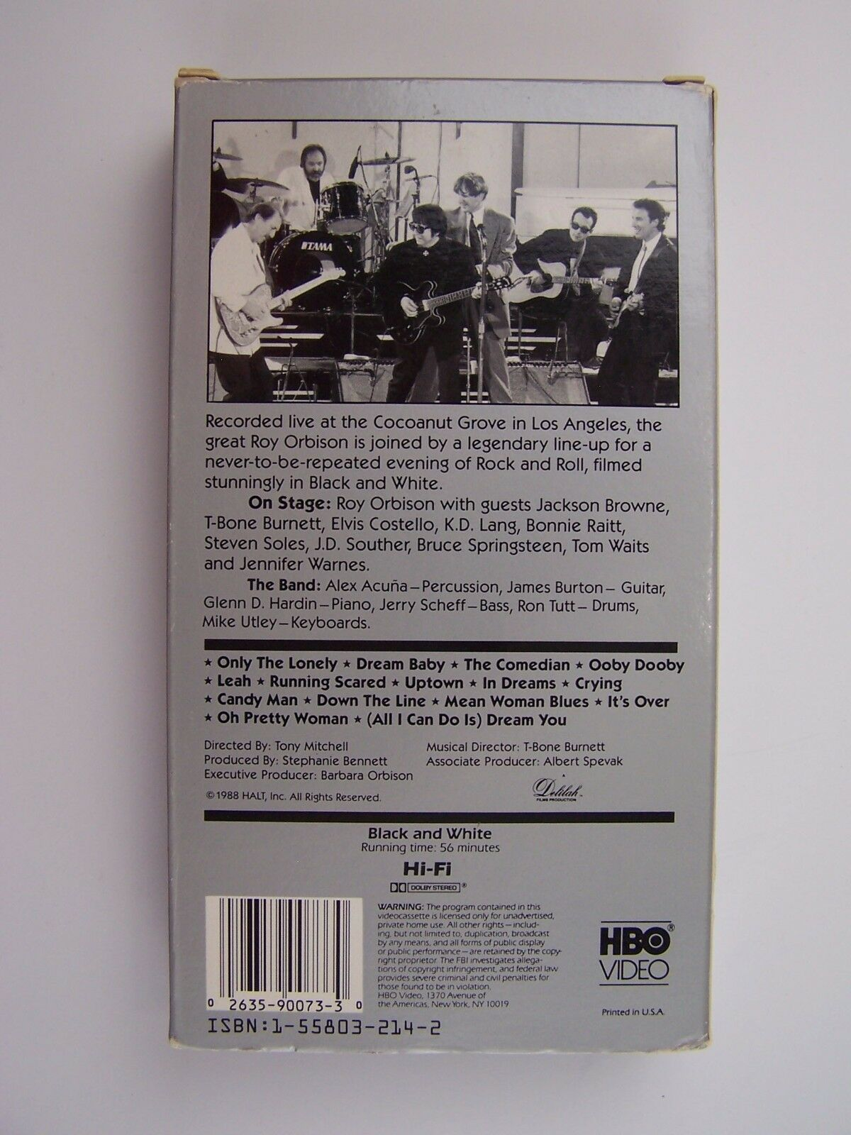 Roy Orbison and Friends - A Black and White Night VHS