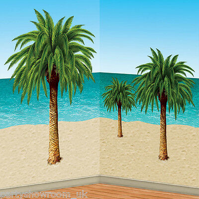 Hawaiian Tropical Party Scene Setter Add-On Props Decoration - PALM TREES PS