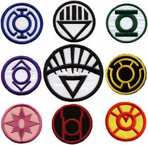 3-5-034-Blackest-Night-Lantern-Corps-Variant-Style-Patch-Set-set-of-9-patches