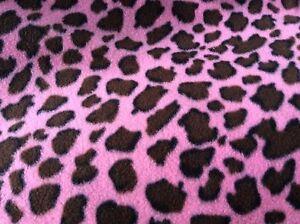 Image Is Loading Pink Cheetah Leopard Print Fleece Fabric 60 034