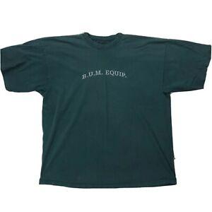 BUM-B-U-M-Equipment-Logo-Shirt-Sz-XL-Dark-Green-Short-Sleeve-Tee