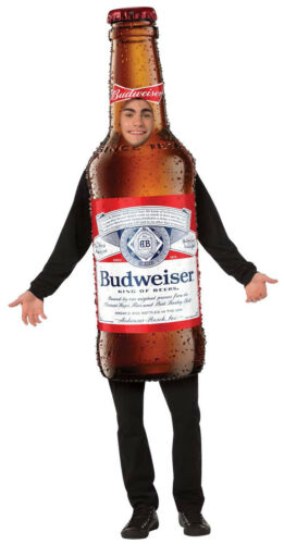 Budweiser Beer Bottle Mens Adult Funny Drink Halloween Party Costume Tunic