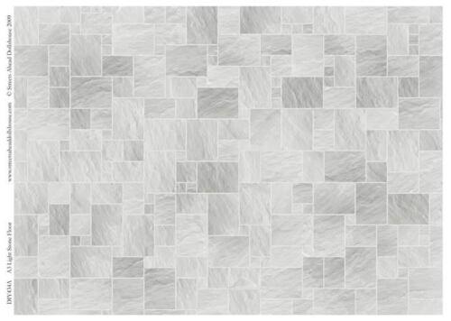 Tarjeta de baldosas de piedra de luz escala 1.12th casa de muñecas en miniatura de suelos