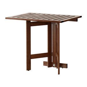 Économie D'espace Ikea ÄpplarÖ Gateleg Table Pour Mur, Outdoor, Marron Teinté 80x56cm-afficher Le Titre D'origine Ztadvncw-10041533-936566936