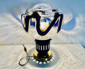🔴 grande lampada vintage design Mazzega originale anni 70 vetro di Murano lamp