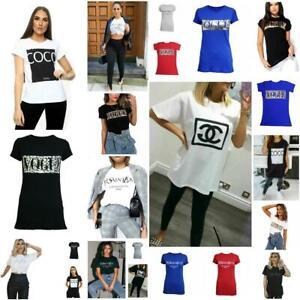 Womens OH HONEY Slogan Fashion T-Shirt Ladies Casual Summer Short Sleeve Tops