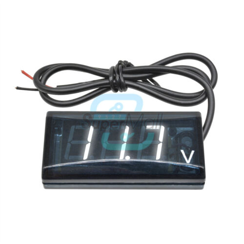 12V Digital  LED Voltmeter Panel Volt Voltage Meter Red// Blue//Water Blue// Green