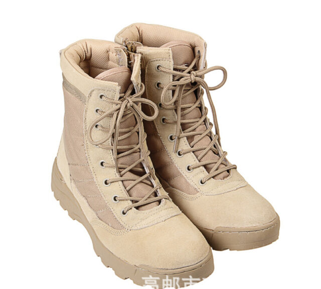 Men's Lace Up Breathable Desert Climbing Tactical Ankle Boots Military Combat Sz