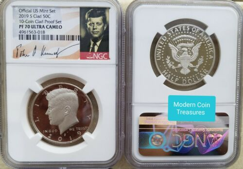 In Stock NGC Graded Clad Proof 2019 S Kennedy Half Dollar Proof 70 Ultra Cameo