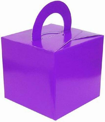 PURPLE WEDDING FAVOURS PARTY GIFT BOX BALLOON WEIGHT BOX FAVOUR FROM UNDER 29P