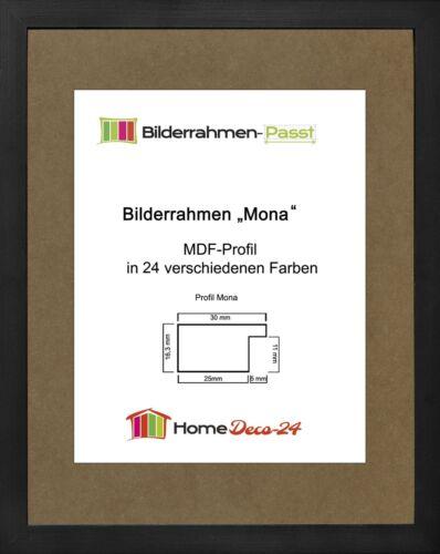 Mona 35 x 50,5 cm Bilderrahmen Homedeco 24 Holzwerkstoff Wahl Farbe Verglasung