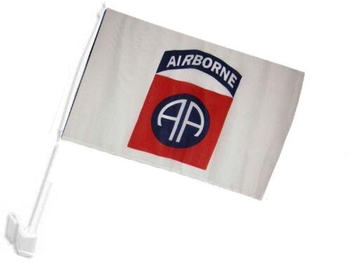 "12x18 Airborne 82nd White Car Vehicle 12/""x18/"" Flag"