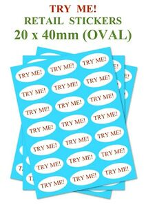circle 25mm set of 150 TESTER Retail stickers 1 inch for shopping tester products