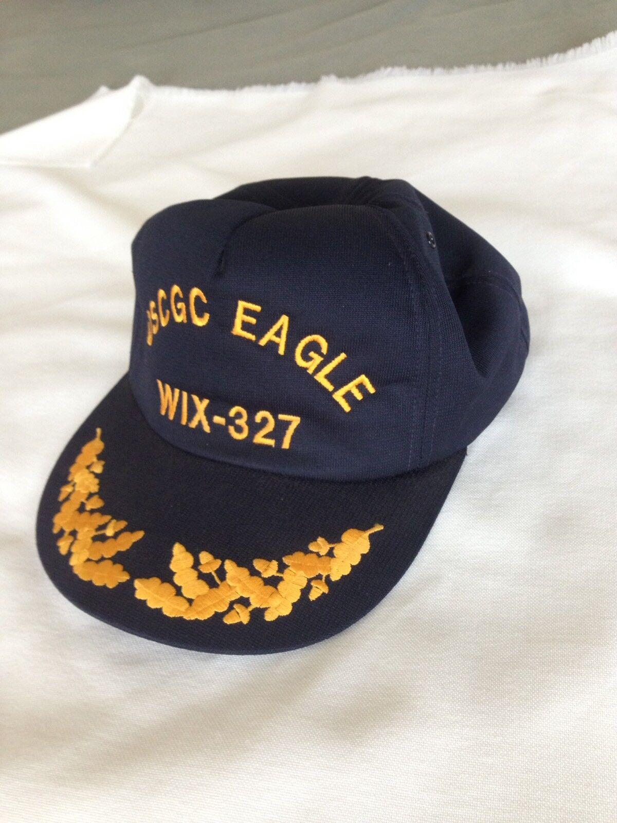 USCGC One Eagle WIX-327 USA Made One USCGC Size Snap Back Trucker Baseball Cap aa8091