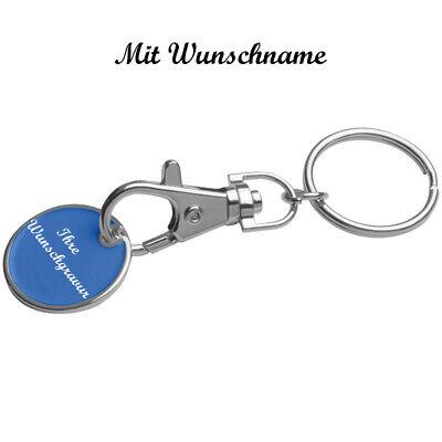 """Schlüsselanhänger /""""Gesicht/"""" mit Namensgravur Farbe blau"""