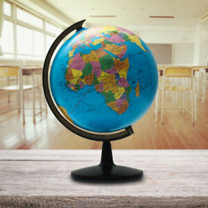 10inch Stand Rotating World Globe Map Kids School Student Geography Educational