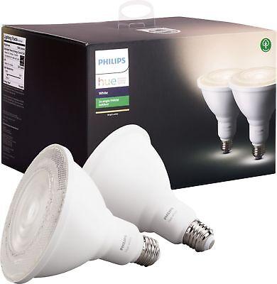 Philips Outdoor Hue White PAR 38 Smart LED Bulb (2 Pack) White | eBay