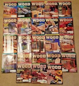 Wood-Magazine-23-Issues-Better-Home-and-Garden-Woodworking-Lot-1997-1999-Tools