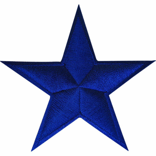 Blue Star Iron On Badge Sew On Patch Clothing Bag Crafts Embroidered Applique