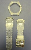 Authentic Technomarine Clear Silicone Strap & Cover With Silver Buckle 40mm