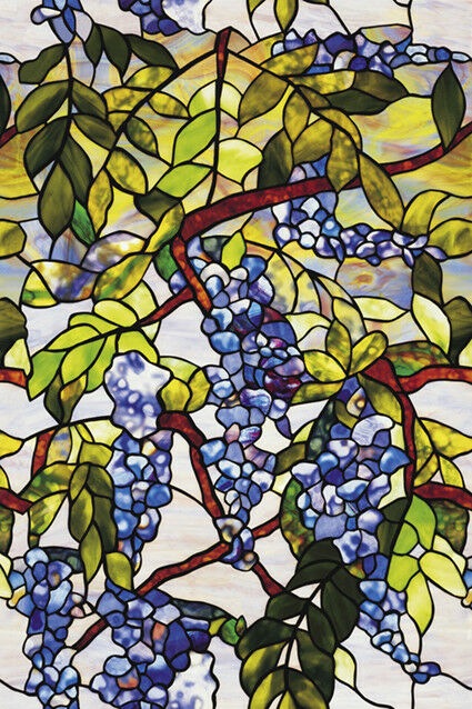Stained Glass Window Cling Film.Wisteria Privacy Stained Glass Window Film Decorative Vinyl Static Cling Films