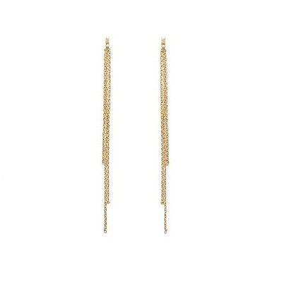 Boucles d/'oreilles CHAINE Pendante ULTRA LONGUES 10cm  Bijoux en ACIER NEUF