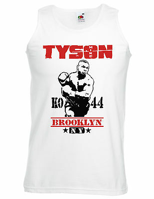 Boxing t shirt,training Mike Tyson Brooklyn NY,KO 44 sports grey