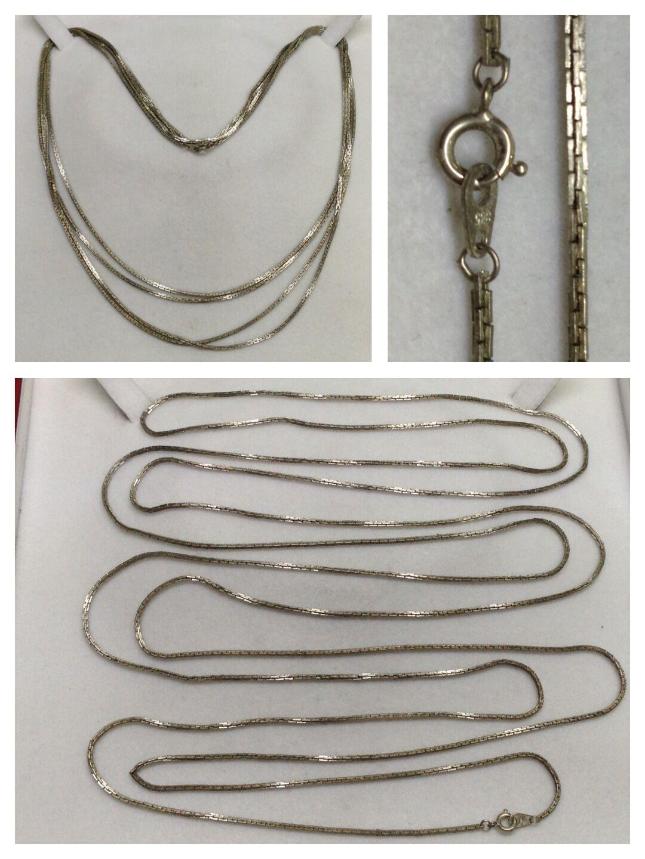 Lunga catena 835er argentoo Collier argentoo Catena argentoo Collier Collier Collier ca 2 M ed1158