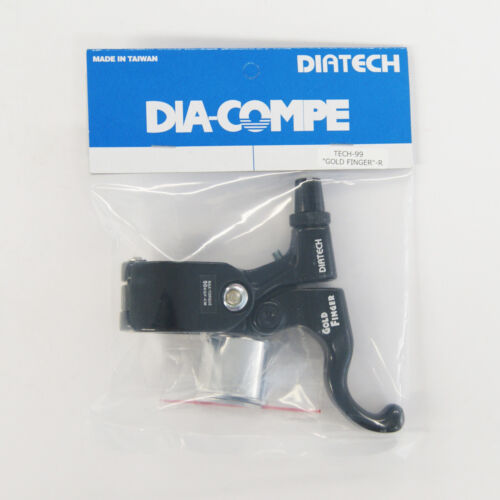 Black x Black DIA-COMPE TECH99 GOLD FINGER Brake Lever Right Only