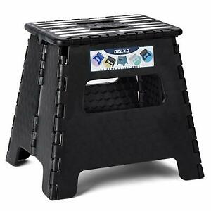 Folding Step Stool Plastic Non Slip Heavy Duty 300 Lbs