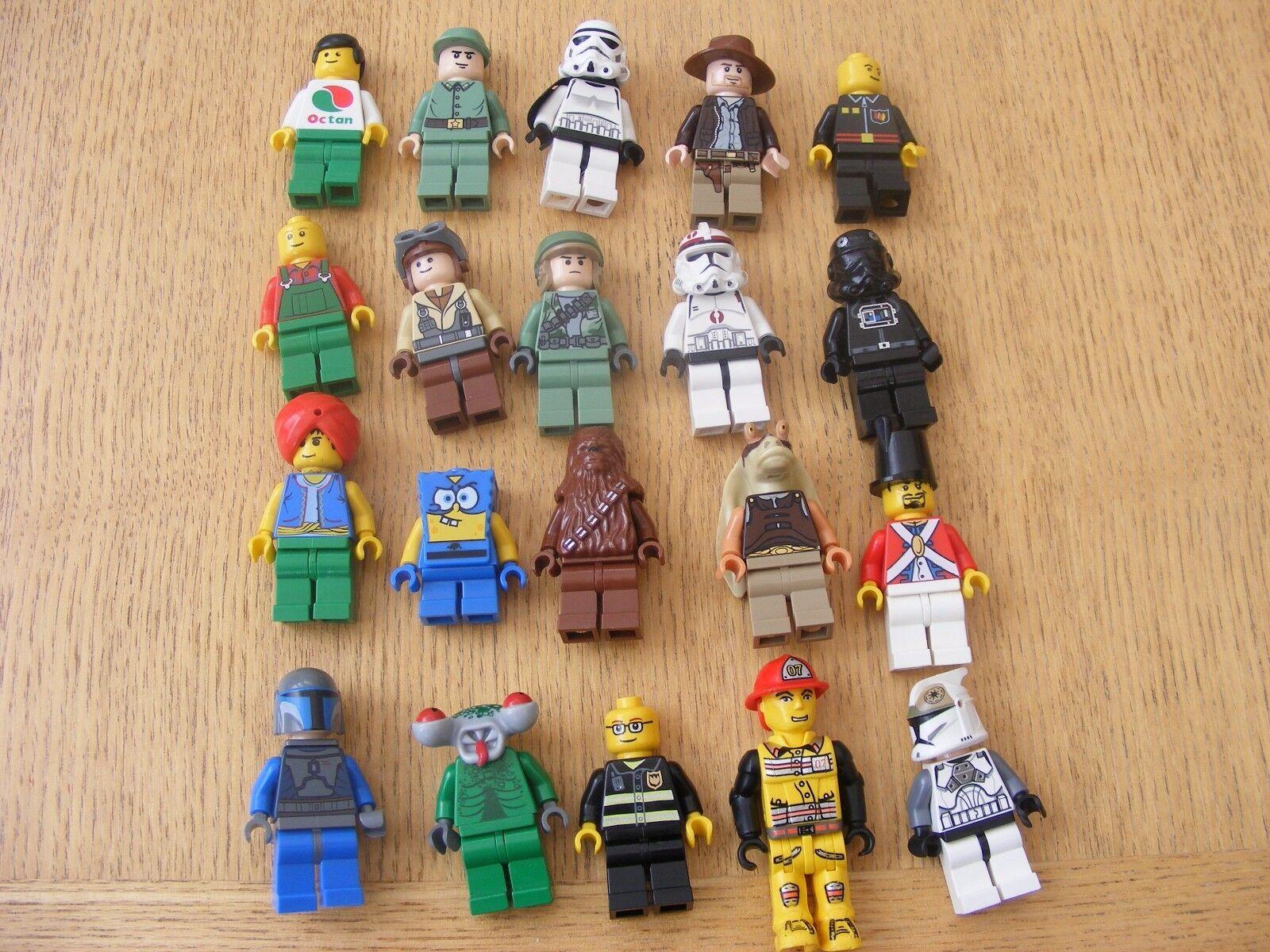 LEGO mixed figure bundle inc Star Wars (bundle 1) +some incomplete spares ref477