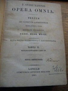 Antiques Lovely Opera Omnia Textum Ad Codicum Lipsiensium 1868 Latain Manuskripte V New York With The Best Service