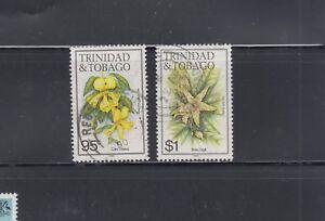 Trinidad-1988-89-Flowers-new-wmk-Sc-401a-402a-Fine-Used