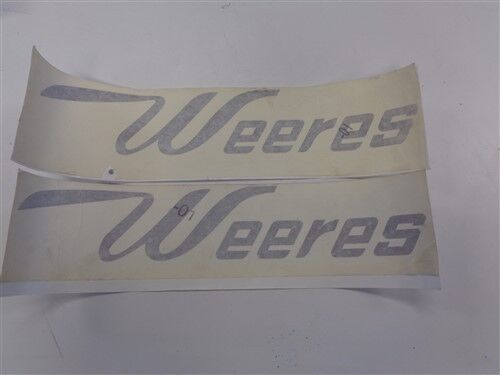 """WEERES DECAL PAIR 2 MAUVE 19/"""" X 3 1//2/"""" MARINE BOAT GOLD"""