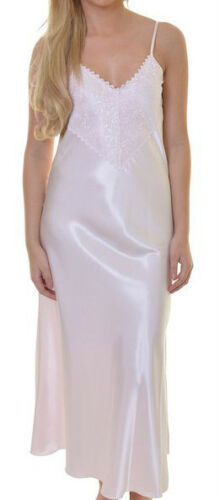 Long White Satin Nightgown multiple sizes available