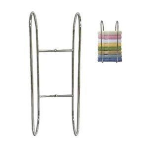Wall-Mounted-Chrome-Towel-Holder-Shelf-Bathroom-Storage-Rack-Rail-New-DCUK