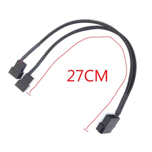4Pin Molex to 2 x 3//4pin Fan Y Splitter Power Cable PC CPU system FANS gm