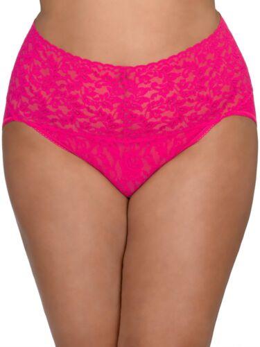 Hanky Panky Plus Signature Lace Retro V-Kini Panty Pink Size 3x
