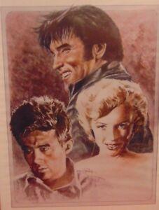 Movie Star Print 16x 20 Elvis Presley James Dean Marilyn Monroe