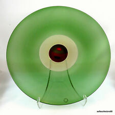 Murano Venini Tapio Wirkkala Green Charger Signed Dated with Original Label 1986