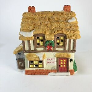 1994-Noma-Int-Christmas-village-Mary-s-Grocery-6-5-x-6-5-x-4